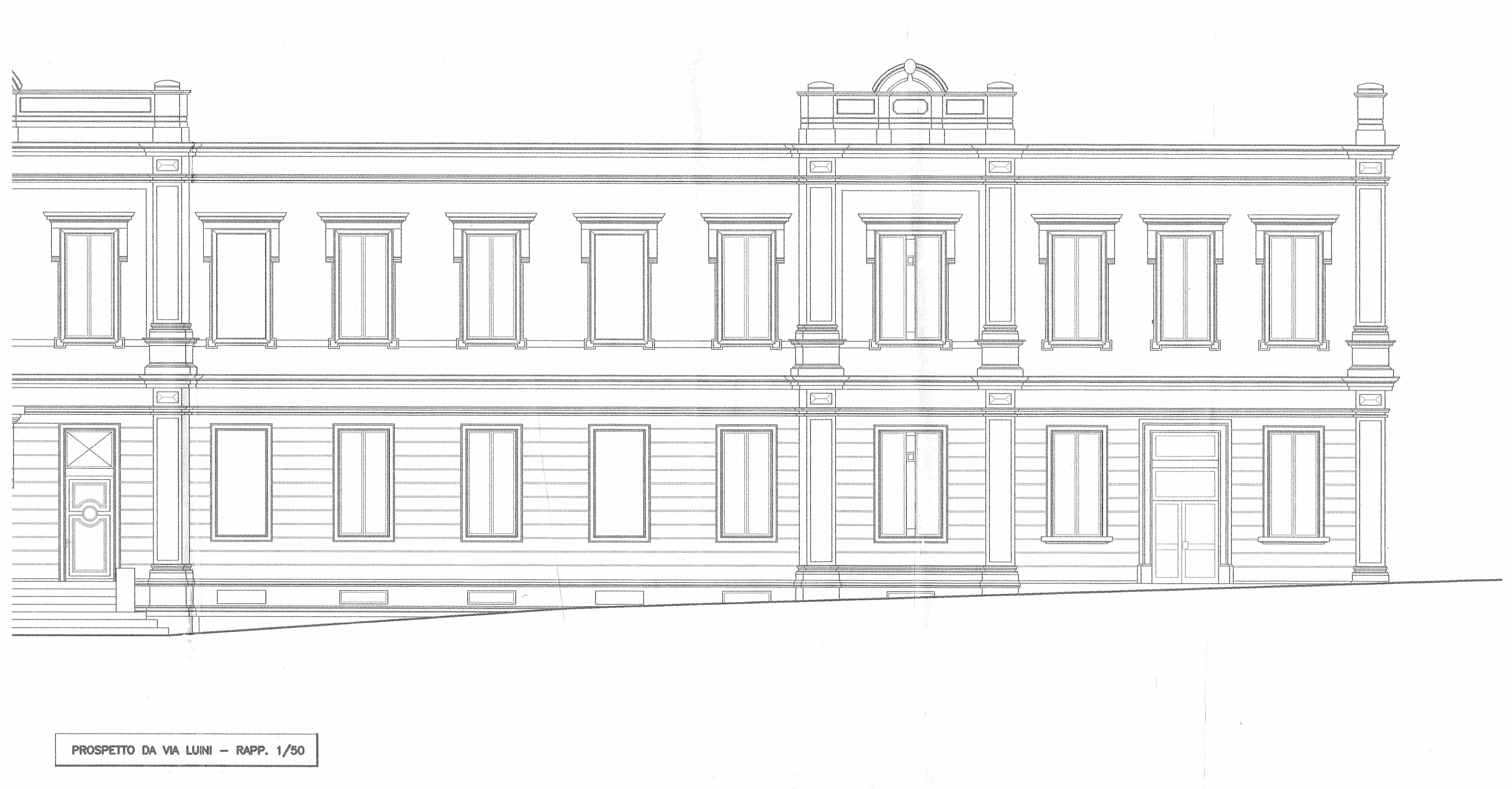 Plan façade école Luino ERP