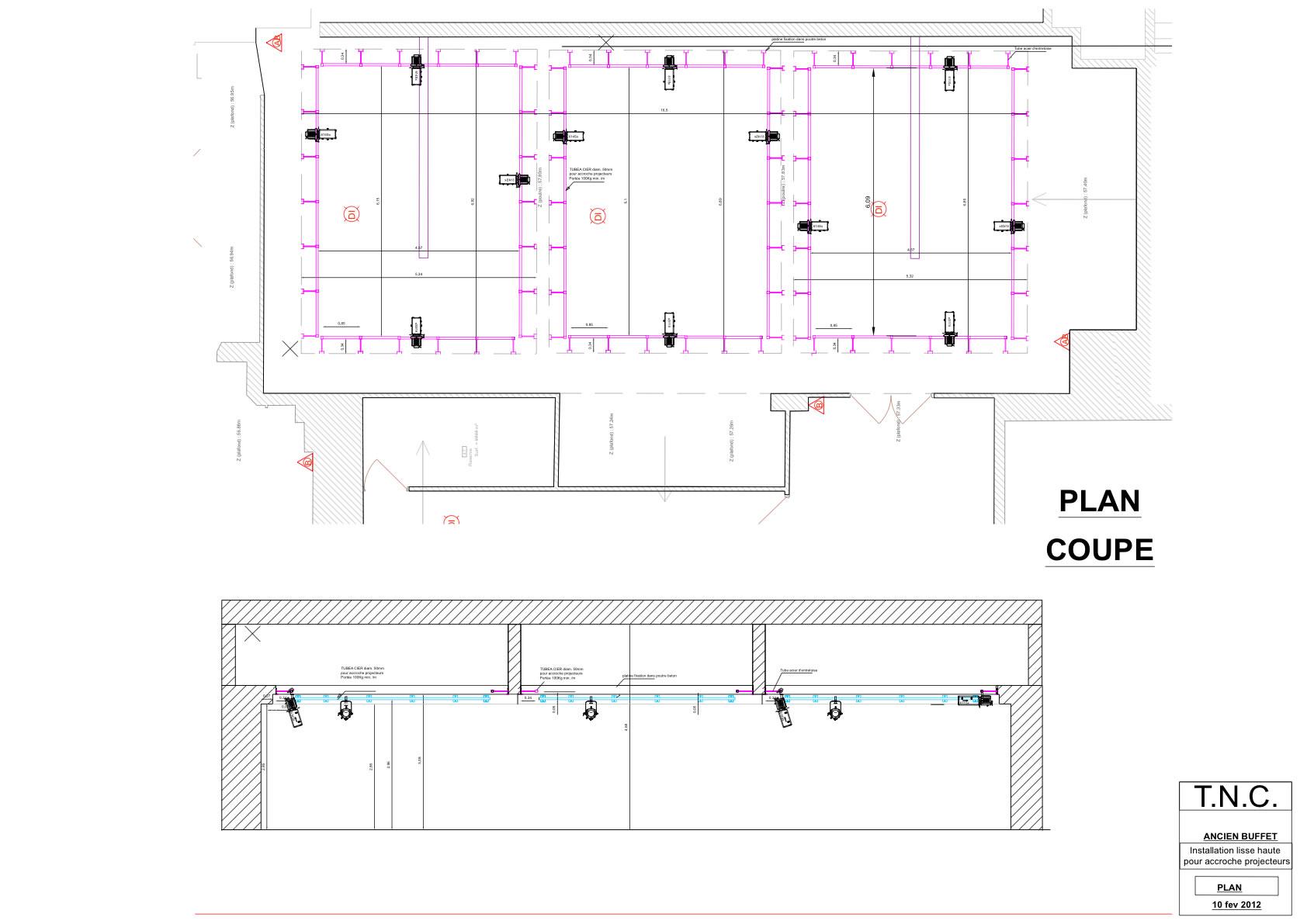 plan architecture scenographie