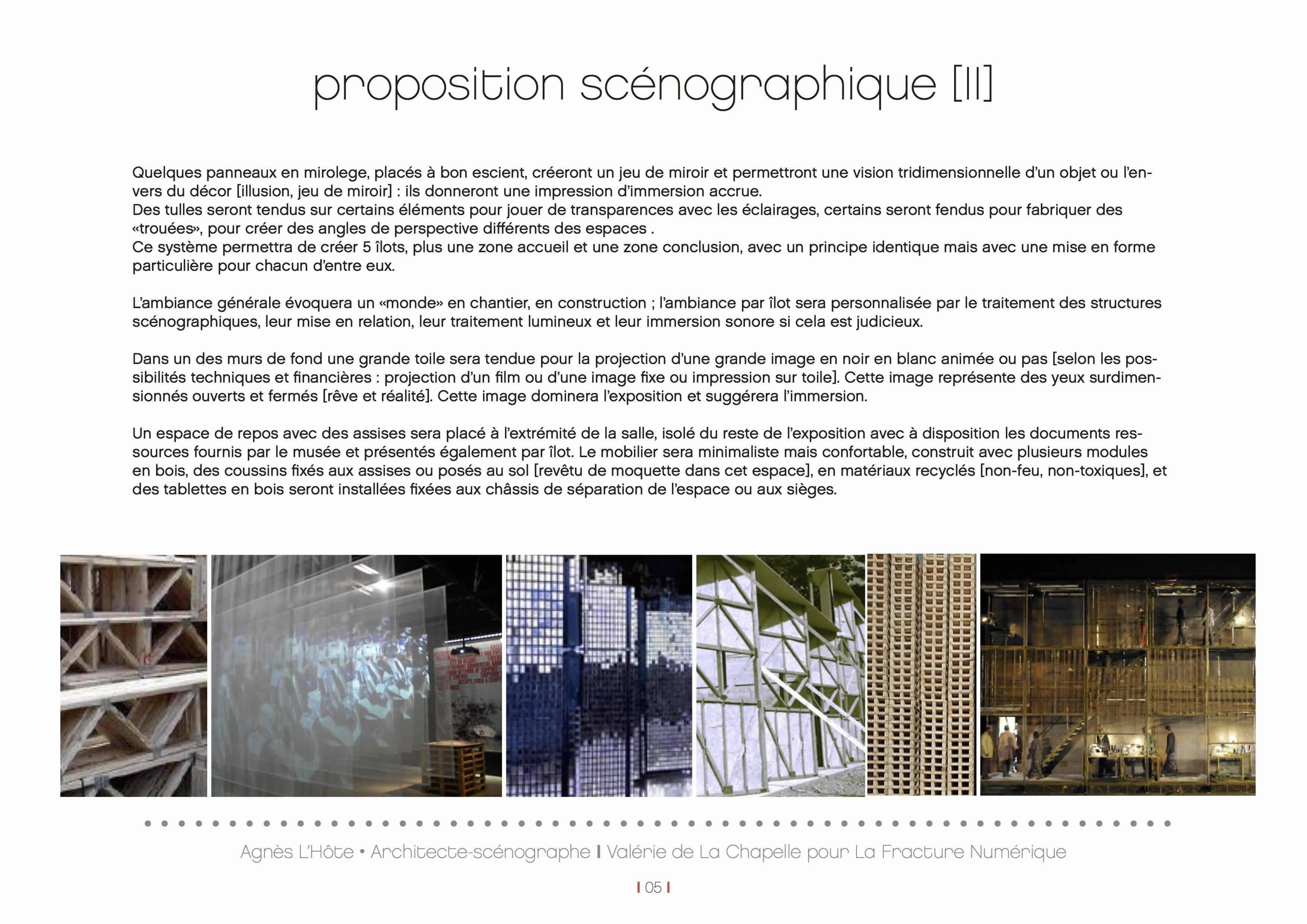 proposition scénographie exposition
