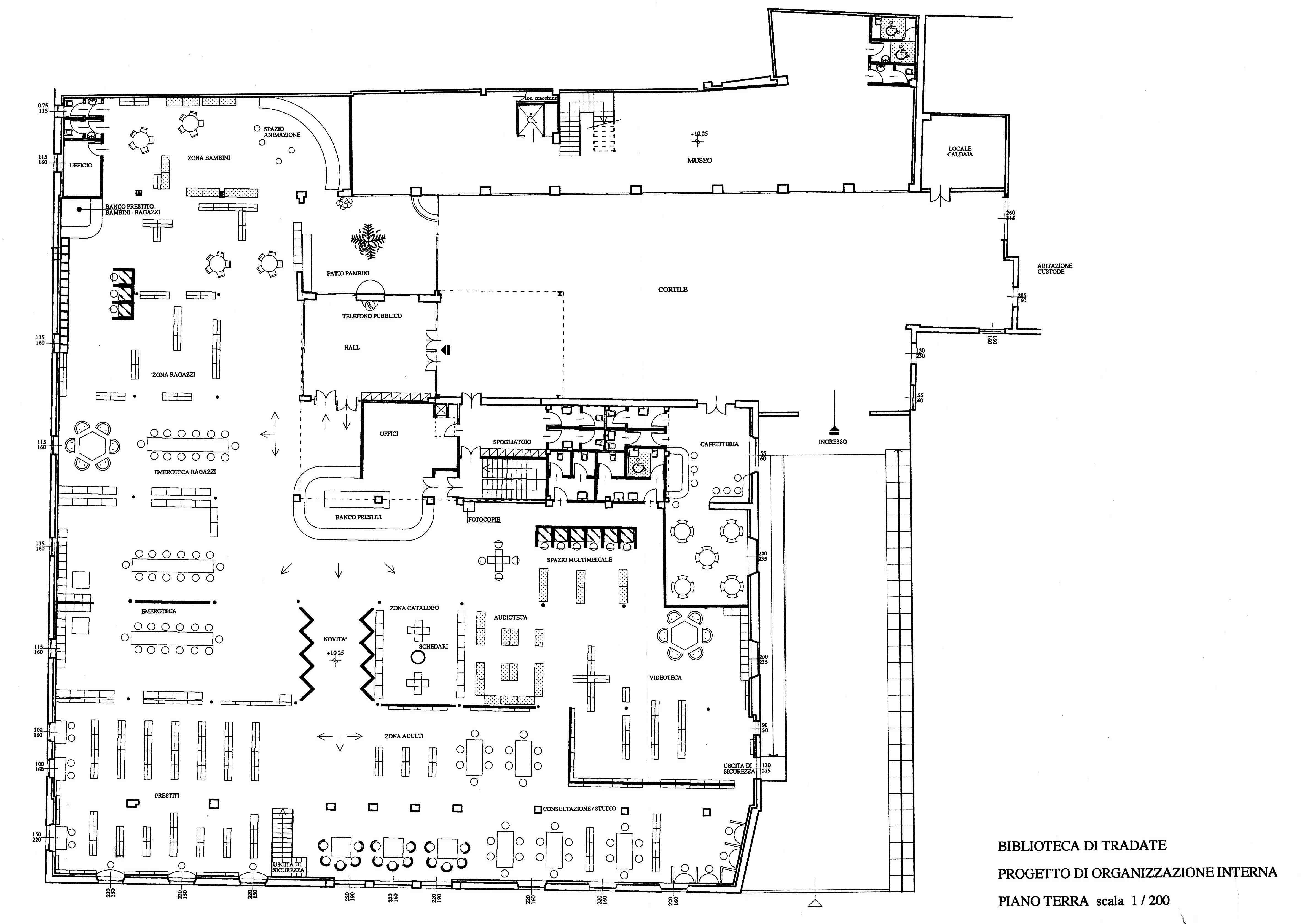 plan architecture overgreen médiathèque