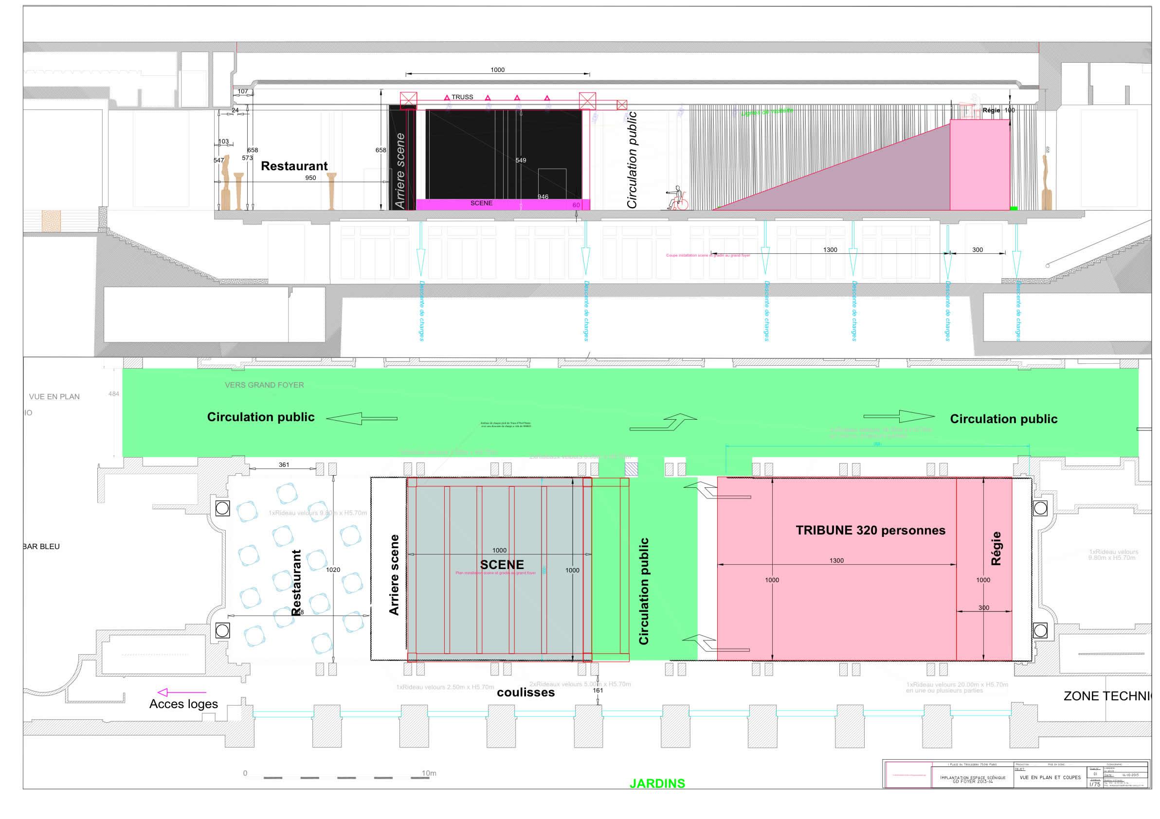 plan circulation public salle spectacle