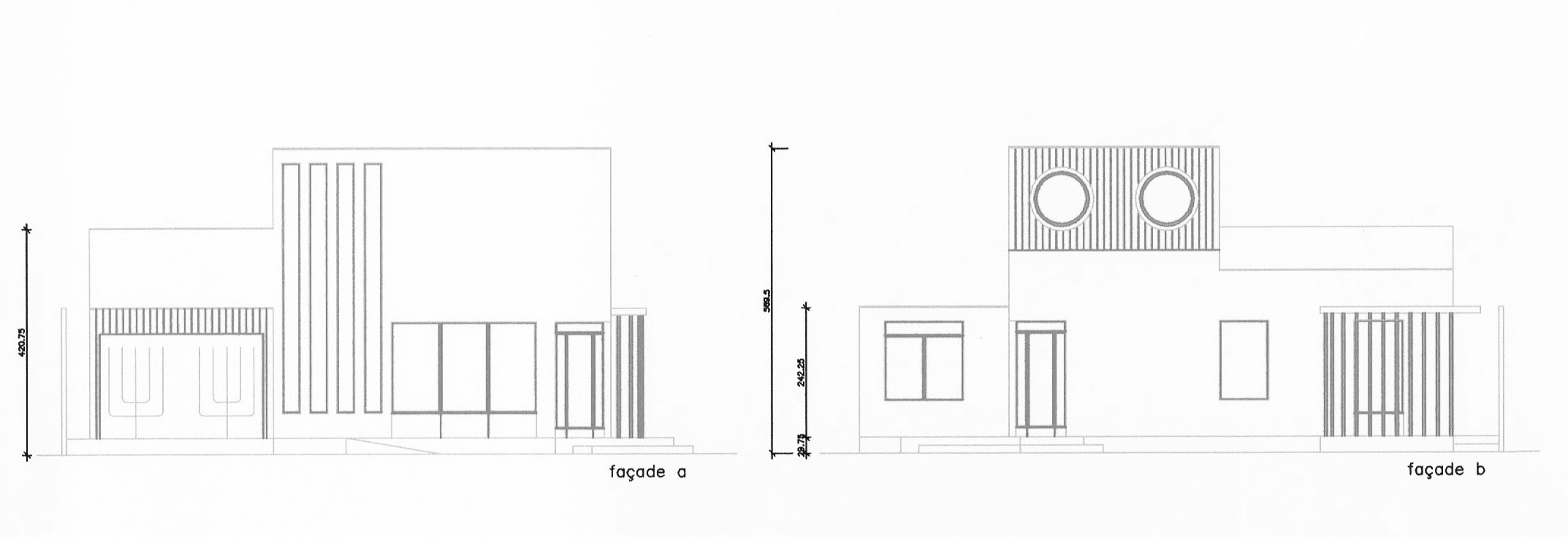 elevation plan maison tati overgreen