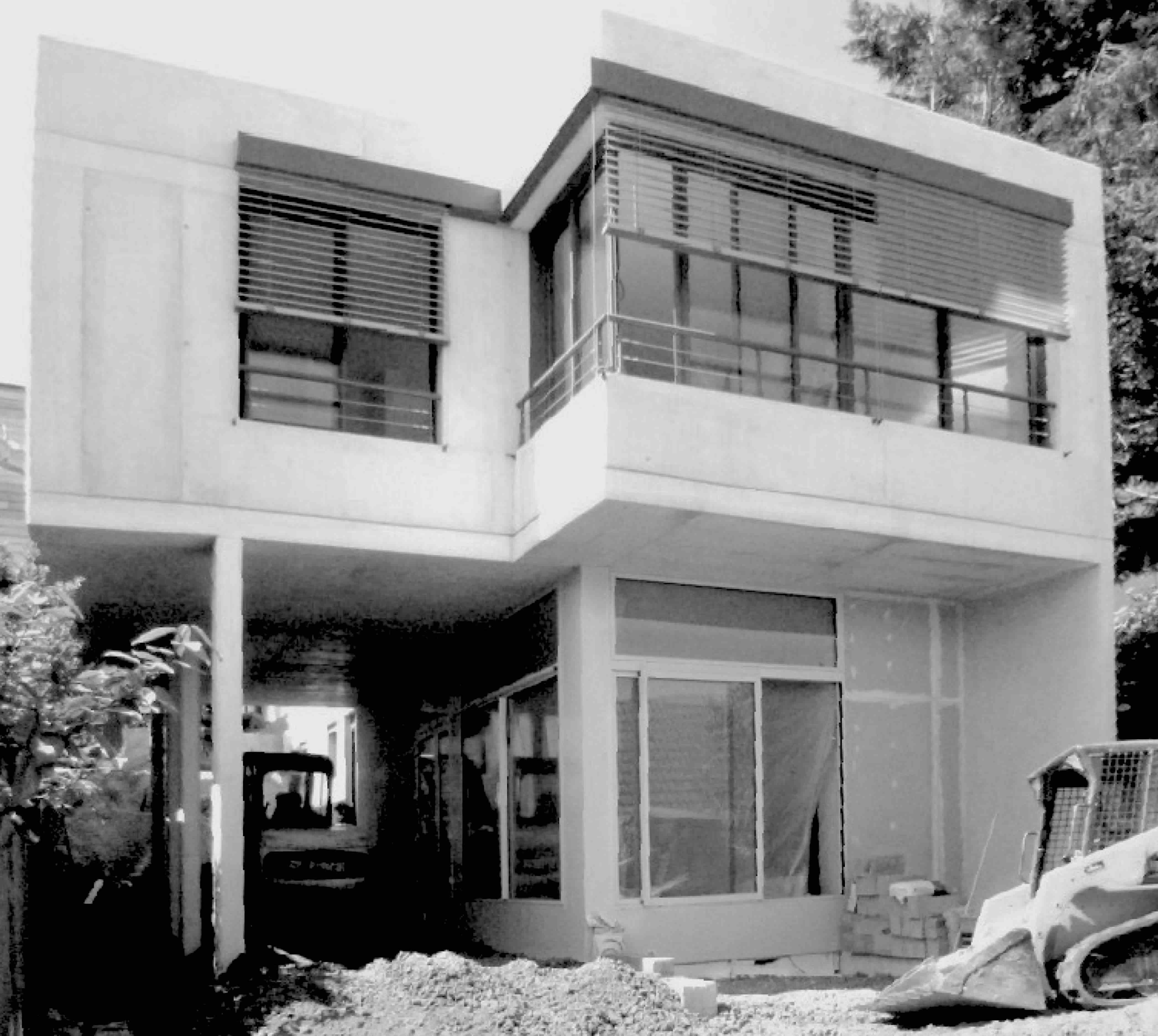 façade jardin maison individuelle