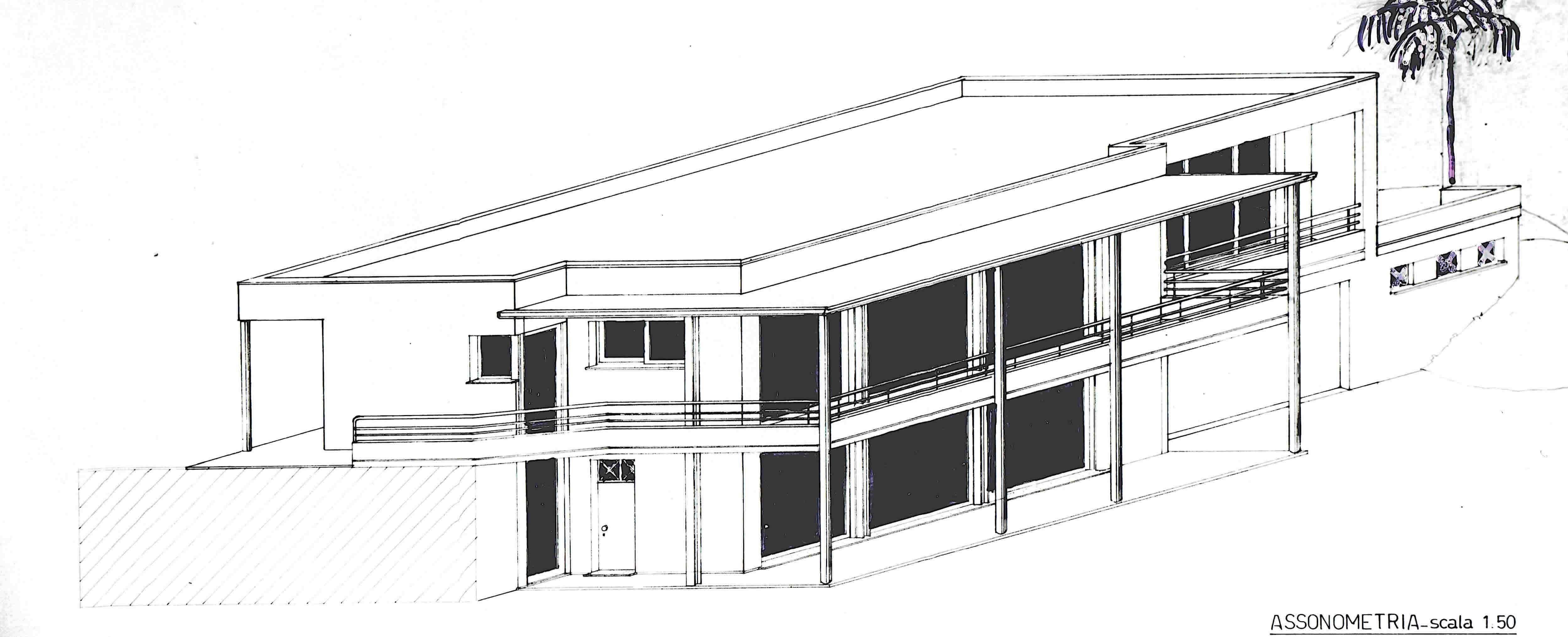 Plan architecture overgreen villa