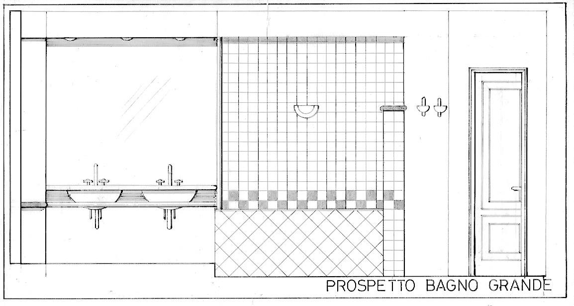 dessin salle de bain villa Ponte TResa